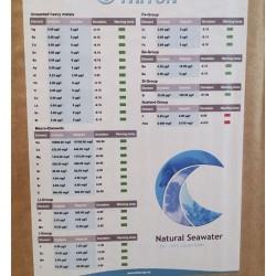 Composición garrafa de 20 litros de agua marina para acuarios